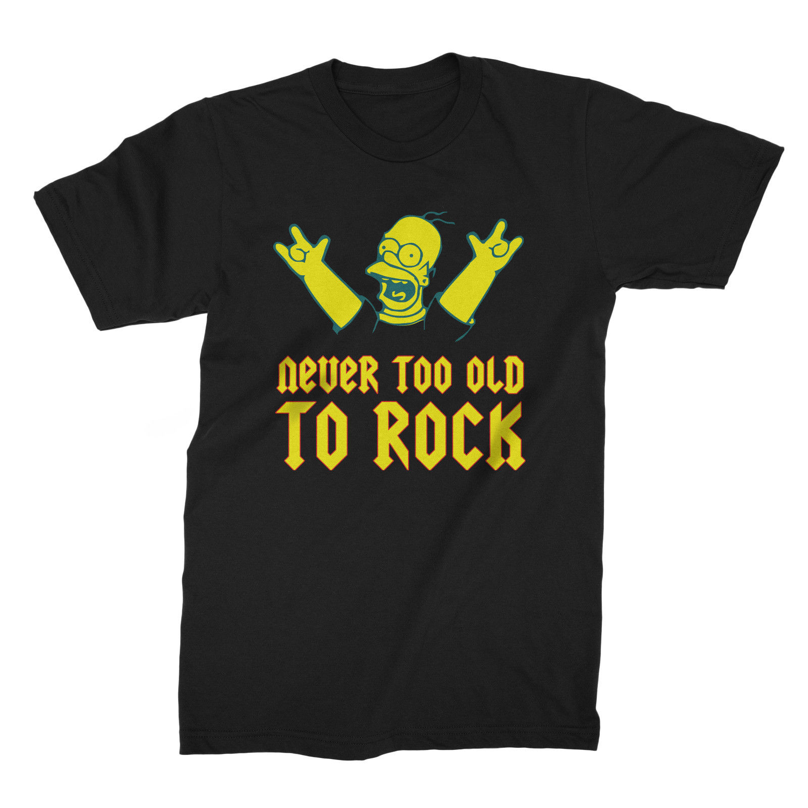 New Funny Men T-shirt Never Too Old To Rock Joke Gift Father`s Day, Birthday