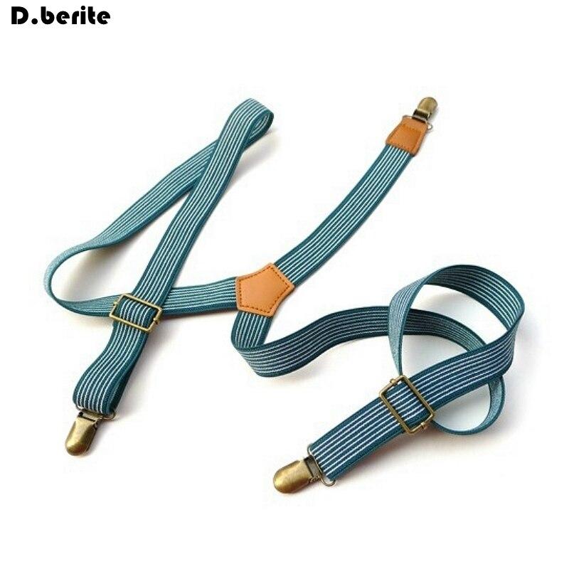 Mens Striped Braces Casual Unisex Adjustable Clip-on Suspenders Clip Braces Adult Belt Strap For Wedding Party BDXJ2507