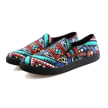2016 Summer Espadrilles Women multicolor shoes graffiti shoes Fashion Casual   Loafers Boat Shoes Women Flat purple  spring
