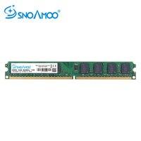 Snoamoo memória ram ddr2 para pc desktop  memória compatível com intel  2gb ram  800mhz 667mhz PC2-6400S cl6 240pin 1.8 v memória do computador