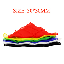 6pcs/Lot 30*30cm Colorful Silk Scarf Magic Tricks Learning & Education For Close Up Prop