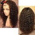 100% необработанные девственницы бразильские человеческие волосы фронта парики 130 плотность вьющиеся Glueless парик бразильский вьющиеся парик