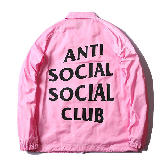 158dbfd24adc Anti Social Social Club Jackets Coat Mens ASSC Waterproof Outerwear Coats  Fashion Hip Hop Fleece Jacket Kanye West Streetwear