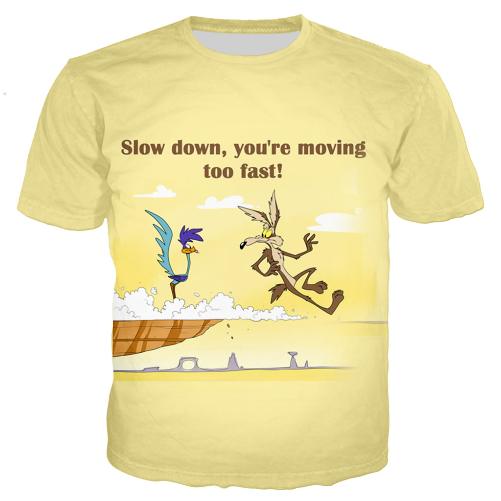 Coyote and The Road Runner Cartoon Movie Men Women Unisex T-Shirt Wile E