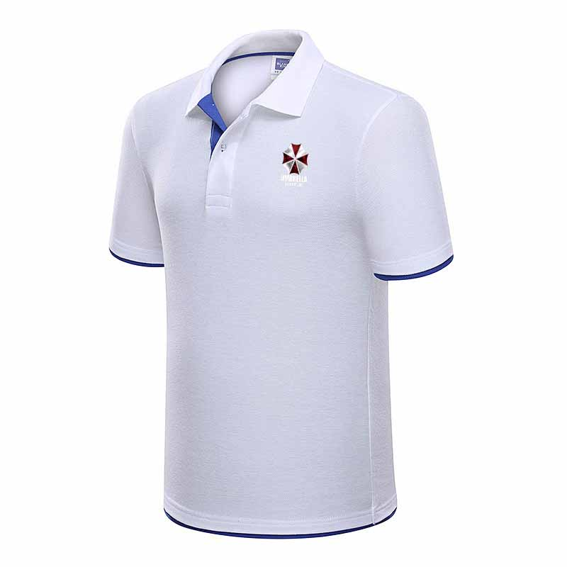 2019 new fashion men's   Polo   shirt + cotton short-sleeved shirt sports   polo   jersey+ Resident Evil Umbrella   Polo   Shirts
