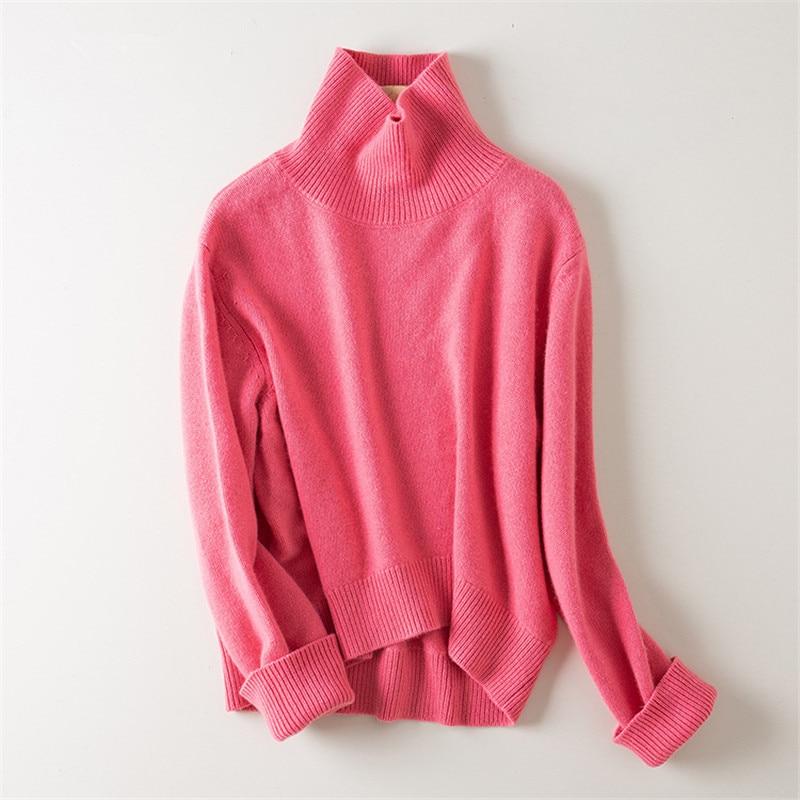 1bc4cdd0add9 Cheap Suéter de punto grueso de Cachemira 100% de moda para mujer jersey de  cuello
