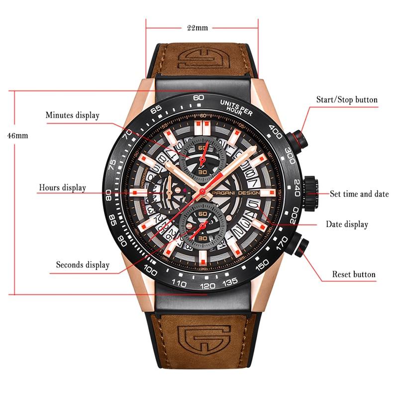 PAGANI DESIGN Տղամարդկանց ժամացույցներ - Տղամարդկանց ժամացույցներ - Լուսանկար 2