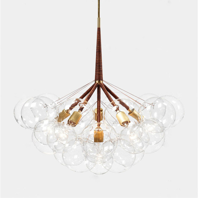 9 /12 /20 Bubbles Postmodern Art Molecular Glass Chandelier Creative Designer Loft Dinner Bedroom Led Hanging Light Fixtures