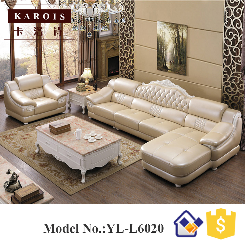 Wholesale Price Leather Corner sofa with chaise L Shaped Sofa,leather  furniture,white leather sofas-in Living Room Sofas from Furniture on ...