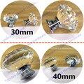 Dia. 30mm/40mm Mobiliário Gaveta Puxa e Puxadores de Cristal K9 para Ccabinet Cozinha Hardware