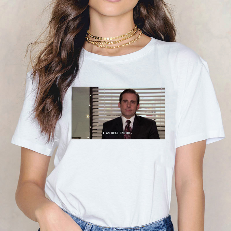 Michael Scott Harajuku t shirt Funny Women T-shirt The Office Fashion Grunge Aesthetic Graphic Tees Shirt Femme ulzzang 90s