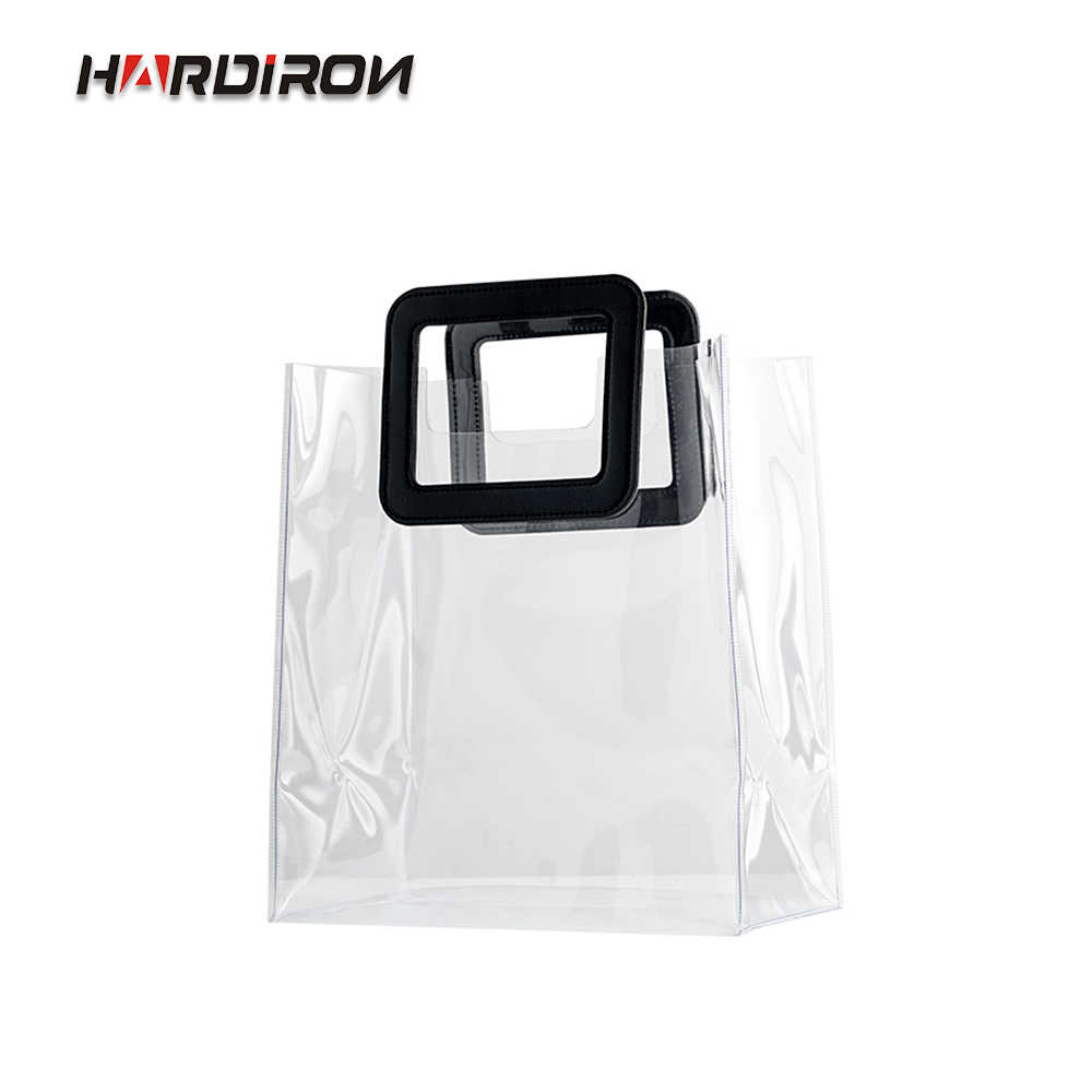 HARDINRON Fashion Waterproof Pvc Tote Transparent Bag Activity Gift Bag High-grade Cosmetics Packaging Shopping Bag
