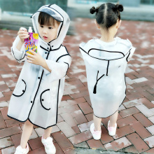 Baby Kids Raincoat Children Transparent Raining Jacket Unise