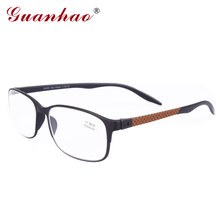 Guanhao Designer Spectacle Reading Glasses TR90 Frame Fashion Hyperopia Colors Men Women Computer Glasses for Sight 1.0 1.5(China)