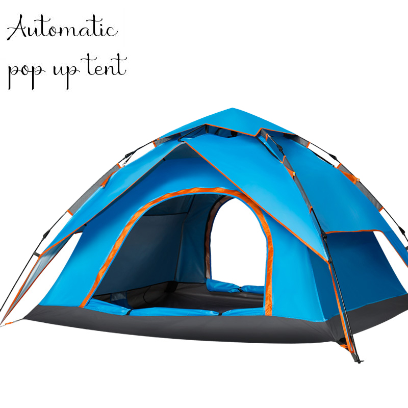3-4 Person Automatic Pop Up Tent Double Layers Waterproof Camping Tent Outdoors Camping Equipment Fishing Tents Outdoor 0