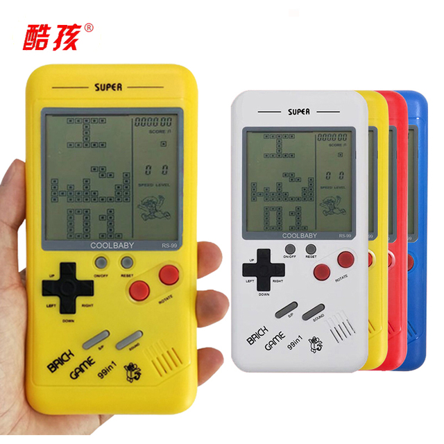 Handheld Console Mini Game Machine Classical Tetris Brick Players Childhood Reminiscence Toys Best Gift For Children