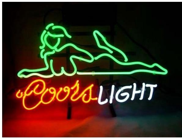 Super brightfs neon sign coors light beautiful girls handcrafted fs neon sign coors light beautiful girls handcrafted neon light sign beerbar aloadofball Choice Image