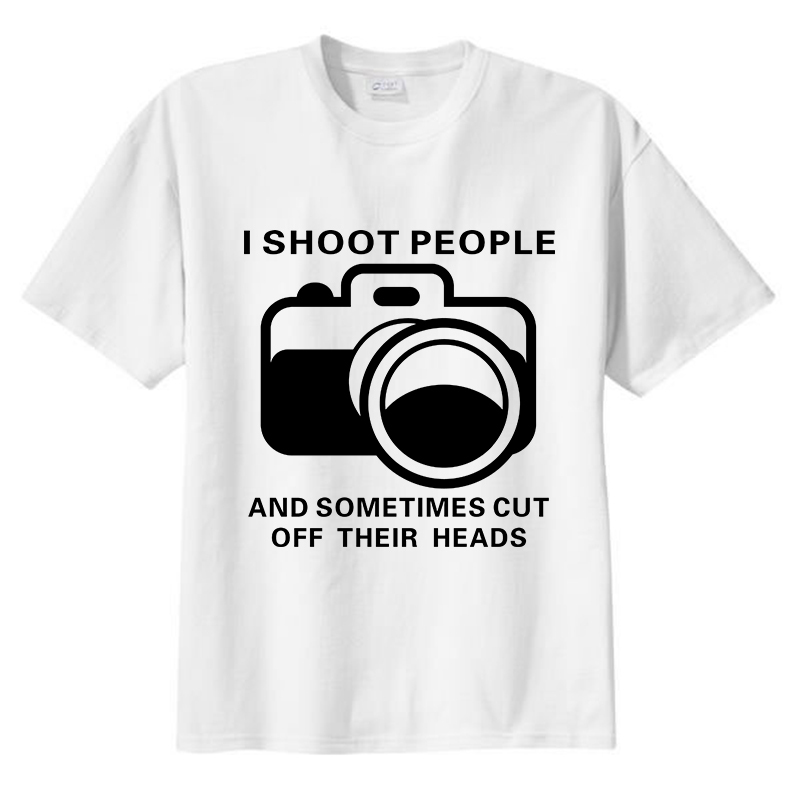 New I Shoot t shirt I Shoot People T Shirt Funny Photographer TEE ...
