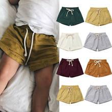 Новые короткие шаровары для маленьких мальчиков и девочек, спортивные штаны, джоггеры, хлопковые штаны, леггинсы из полипропилена