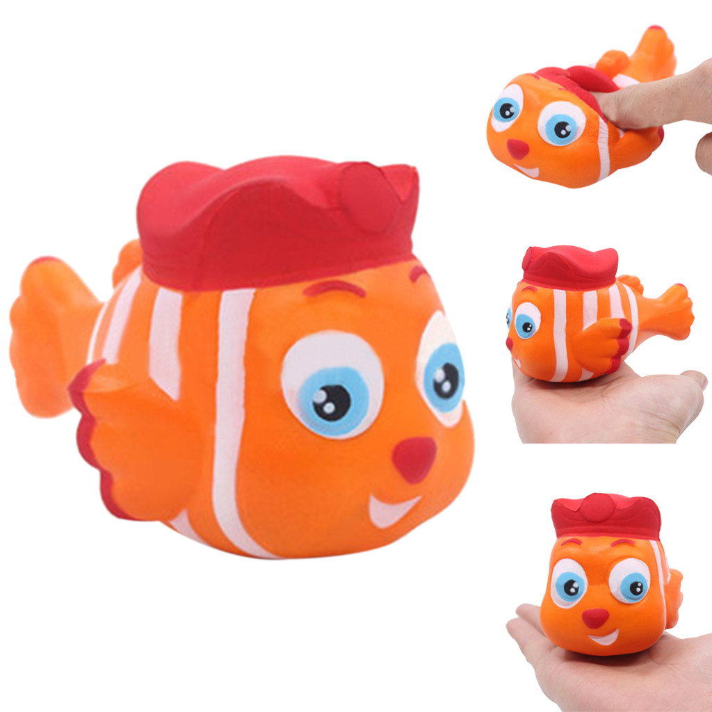 Stress Reliever Cute Clownfish Scented Super Slow Rising Kids Squeeze Toy Kawaii Reliever Toy Smooshy Soft Starting W606
