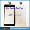 """Высокое Качество 5.0 """"Для Explay Рио-play Сенсорным Экраном Дигитайзер Передняя Сенсорный Стеклянная Панель Датчик Черный Белый Цвет"""