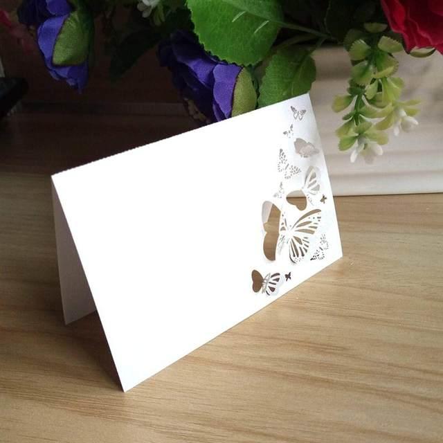 Online Shop 50pcs Hollow Butterfly Style Wedding Laser Cut Decor ...