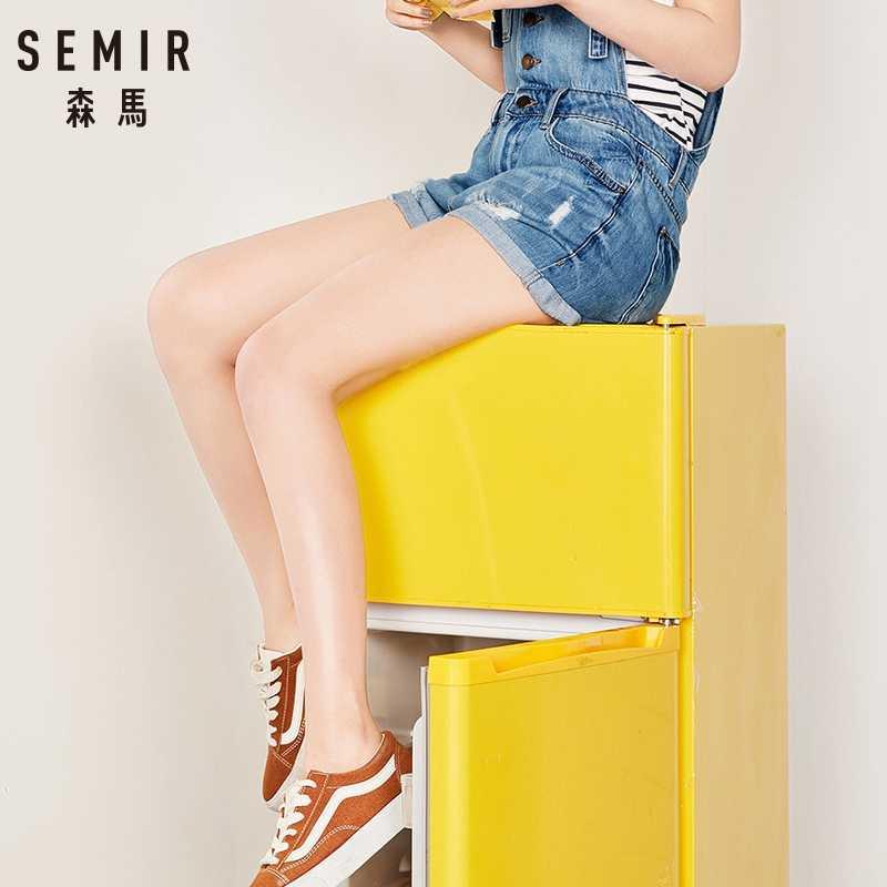 SEMIR женский джинсовый комбинезон 2019 женские свободные джинсы комбинезоны женские повседневные Большие размеры отверстие джинсовый комбинезон легкий костюм с карманом