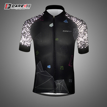 Darevie reflective cycling jersey man Short sleeve breathable quick dry summer