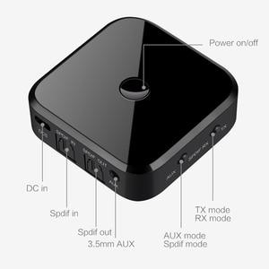 Image 5 - Adaptador estereofônico 5.0mm aux jack/spdif do usb da música audio da fibra ótica APTX HD do receptor do transmissor de bluetooth 3.5 para o computador da tevê