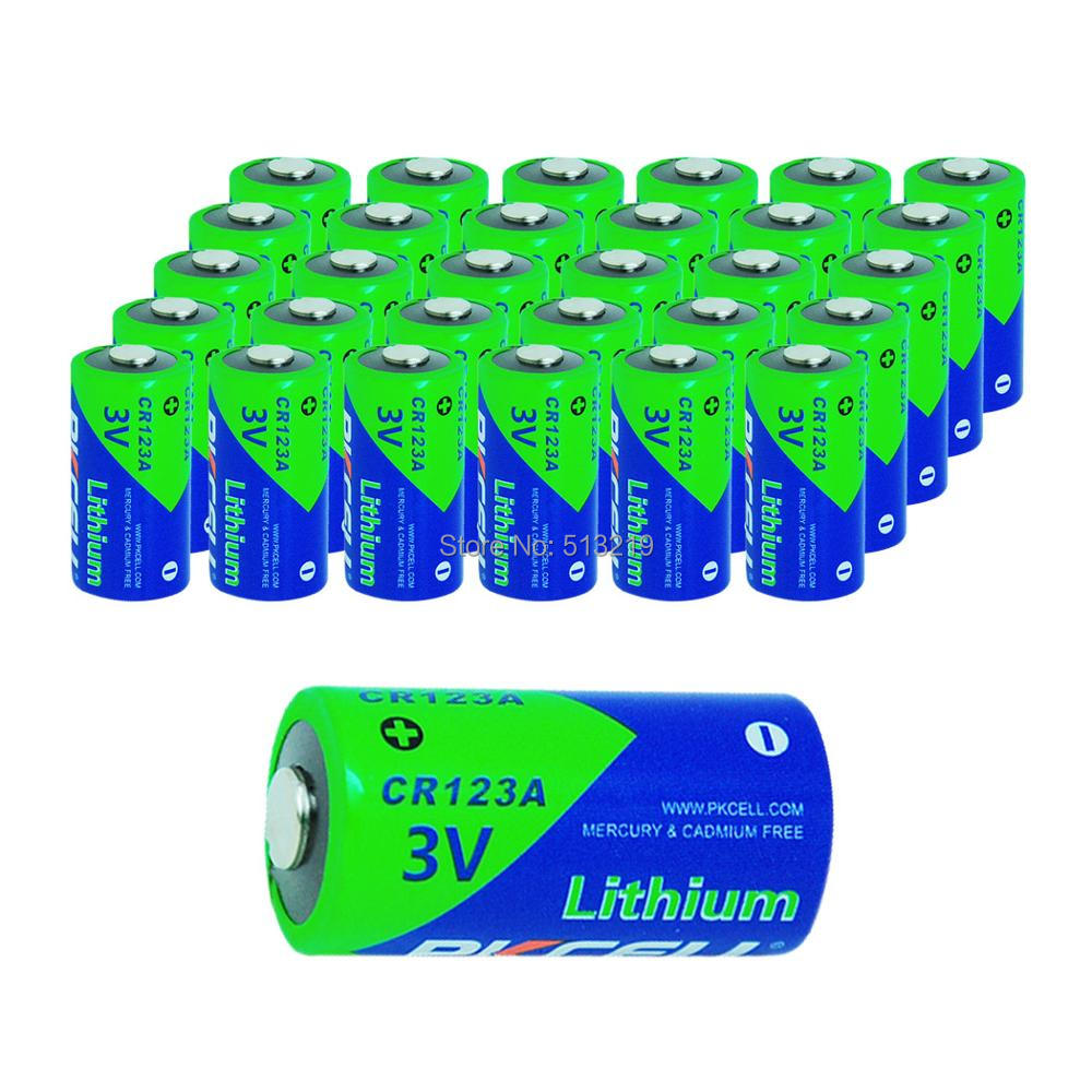 30X PKCELL 2 3A Battery CR123A CR123 CR 123 CR17335 123A CR17345 CR17335 16340 3V Lithium