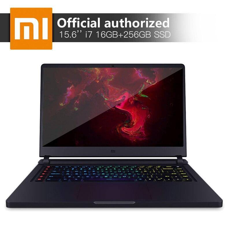 Xiaomi игровой Тетрадь 15,6 ''Intel Core i7 16 ГБ DDR4 256 gbssd + 1 ТБ ноутбука GTX1060 6 ГБ GDDR5 Windows10 клавиатура с подсветкой компьютер