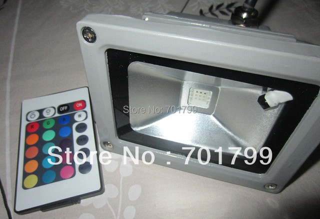 30W RGB flood light, with IR remote controller,AC100-240V input