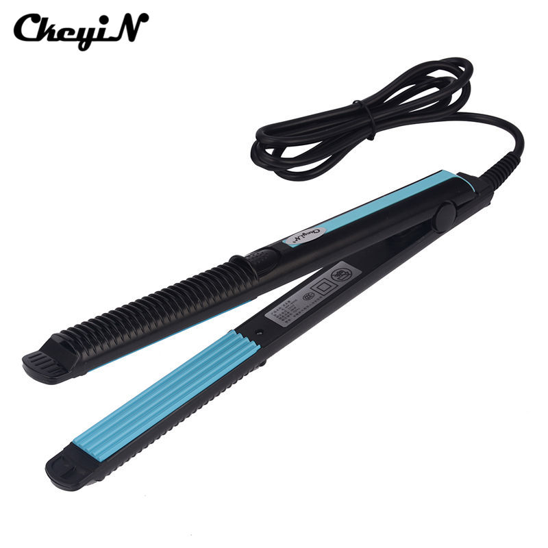 Temperature Control Hair Straightener Corrugated Iron Hair Crimper Corn Plate Electric Straightening Corn Wave Styling Tools S42 fast heat hair crimper electric corn plate hair straightener professional straightening corrugated iron styling tools
