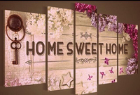 5pcs Sweet Home Photo Decor Full Square 5D Diy Diamond Painting Mosaic Drill Resin Embroidery Needlework