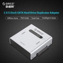 ORICO алюминиевый 2 bay 2.5 & 3.5 дюймов SATA жесткий диск дубликатора адаптер с USB3.0 кабель-серебро