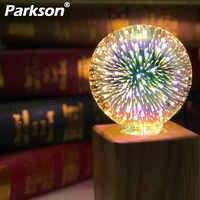 Bombilla Led 3D 220V E27, fuegos artificiales coloridos, bombilla de filamento Led Edison, decoración navideña, lámpara LED, lámparas, Bombillas