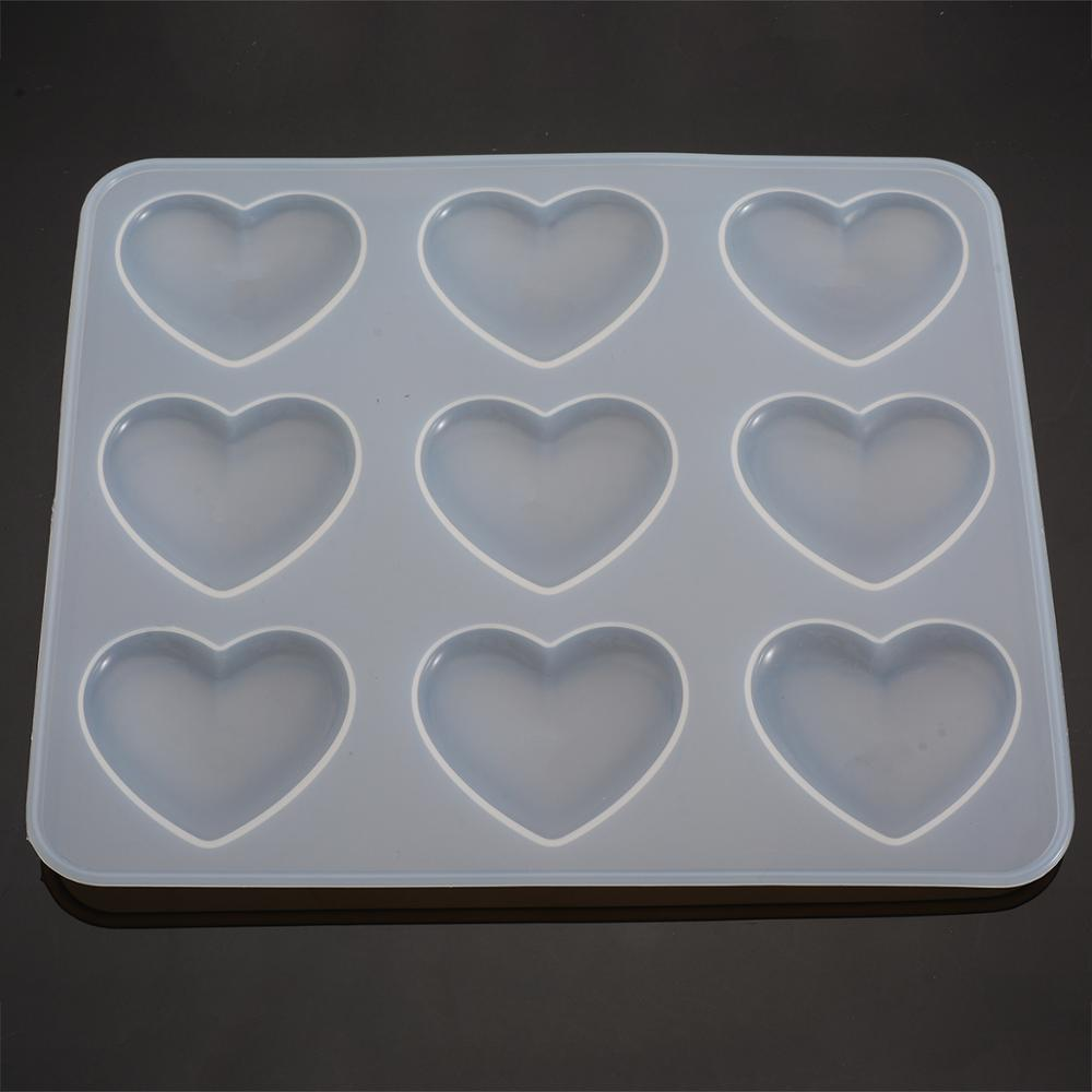Silicone Mold Heart DIY Epoxy Resin Crafts Jewelry Making Handmade Tools Mirror Crystal Molds Cake Fondant Chocolate Mould