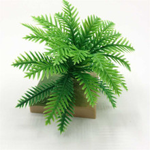 10 Pcs artificial tree miniatures cute plants fairy garden gnome moss coconut decor crafts for bottle free shipping