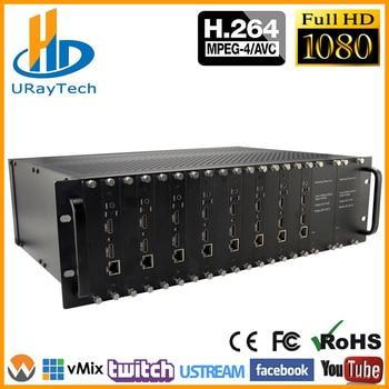3U Rack 8 Channels HDMI Video Audio Encoder H.264 IPTV HD RTMP RTSP HTTP HLS Encoder MPEG4 + MJPEG Encoding RTMP Live Broadcast