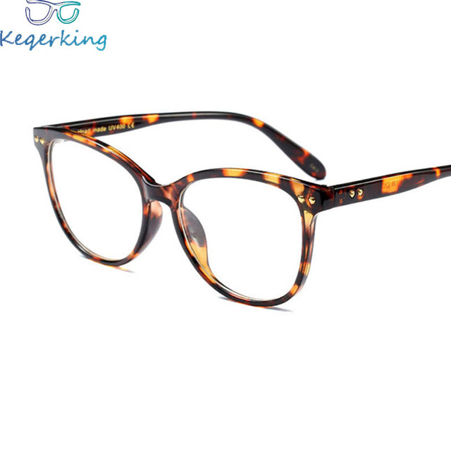6ddc039bbd2 Myopia Retro Eyeglass Women Male Frame Glasses Metal Rivets Frame Round Face  Art Flat Mirror Large Frame Glasses XY-84