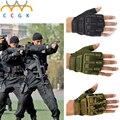 Militar do exército Combate Tático Luvas Ao Ar Livre Das Forças Especiais Metade Navy SEALs Luvas Dedo Anti Skid Fingerless LUVAS de Tiro