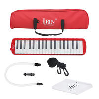 Red Style Woodnote Brand Great 37 Key Black Melodica Deluxe Carrying Case