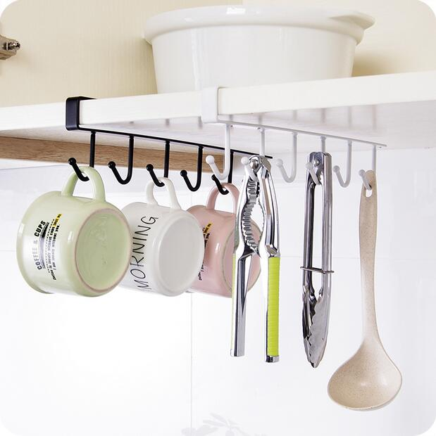 Kitchen Cabinet Storage Rack Iron Multifunctional Row Kook Wardrobe Tie Scarf Finishing Shelf