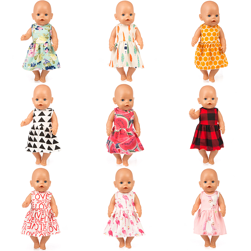 New Leisure Dress Doll Clothes Fit For 43cm Baby Doll Clothes Reborn Doll Accessories