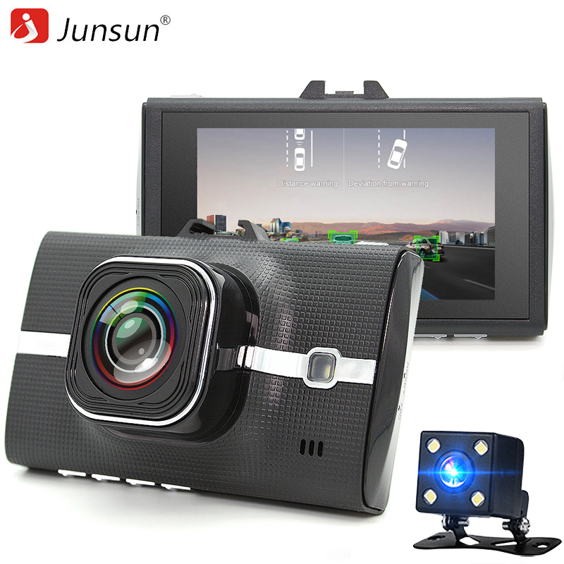 Junsun Car DVR Camera LDWS ADAS Registrar Dual Lens Support Night Vision Video Recording Full HD