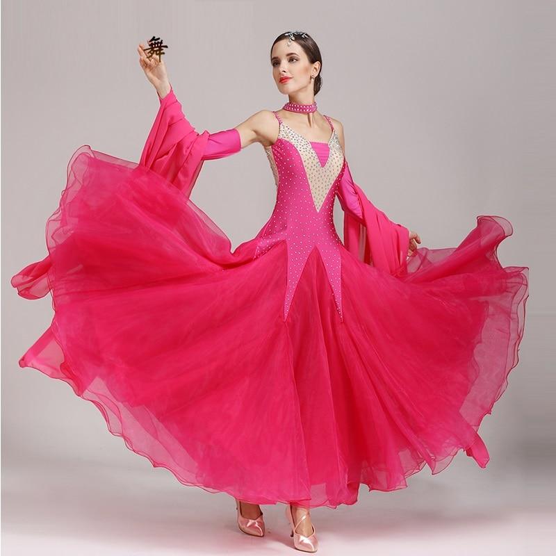 Ballroom Dance Competition Dresses Standard Ballroom Dress Ballroom Diamond Costumes Long Suit B 6155