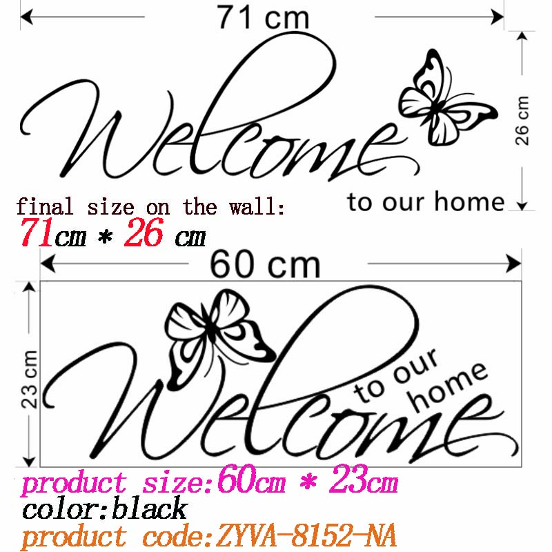 HTB17p0IHpXXXXcAXFXXq6xXFXXXT - welcome to our home quote wall decal-Free Shipping
