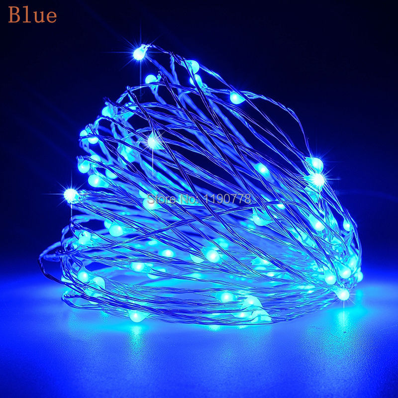 led string lights 10M 33ft 100led 5V USB powered outdoor Warm white/RGB copper wire christmas ...