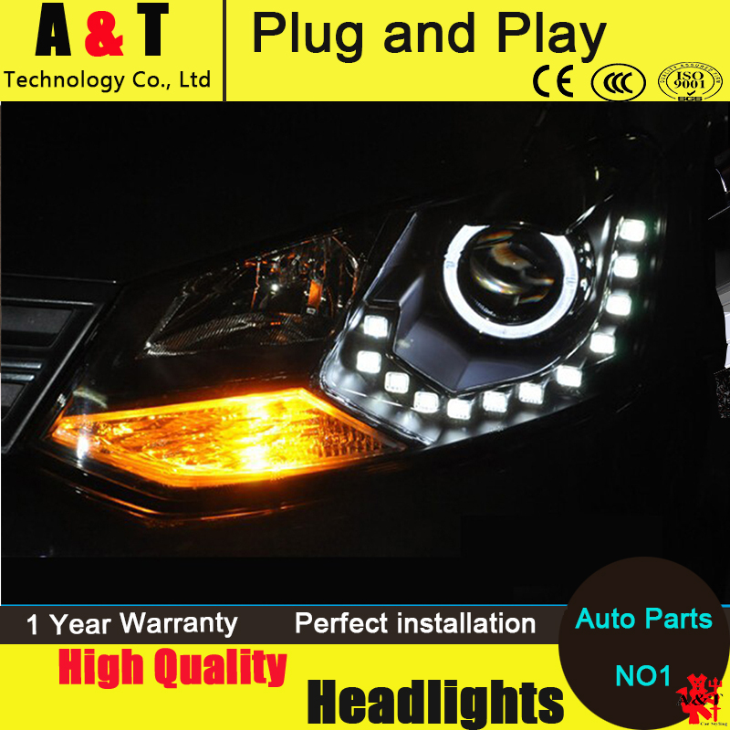 Auto Lighting Style LED Head Lamp for VW Polo GTI led headlight assembly 2011-2014 cross angel eye led drl H7 with hid kit 2pcs. rockeybright 1set all in one n1 h7 led headlight fog head lamp kit with 2pcs h7 led adapter for the new jetta for the new bora
