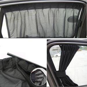 Image 5 - Универсальный черный сетчатый блокировочный vip занавес для окна автомобиля солнцезащитный козырек УФ блок